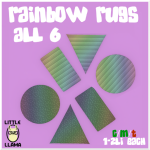Little Llama - Rainbow Rugs - All