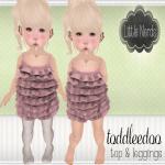[Little Nerds] Pink Ruffle Top & Leggings - TD.