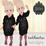 [Little Nerds] Music Is Everything Hoodie & Leggings - TD.