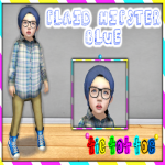TTT - Plaid Hipster Blue Boy