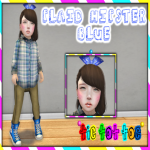 TTT - Plaid Hipster Blue Girl