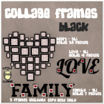 LL Collage Frames Black