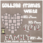 LL Collage Frames White