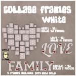 LL Collage Frames White