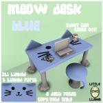 LL Meow Desk Blue