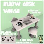 LL Meow Desk White