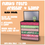LL Funky Dresser Black